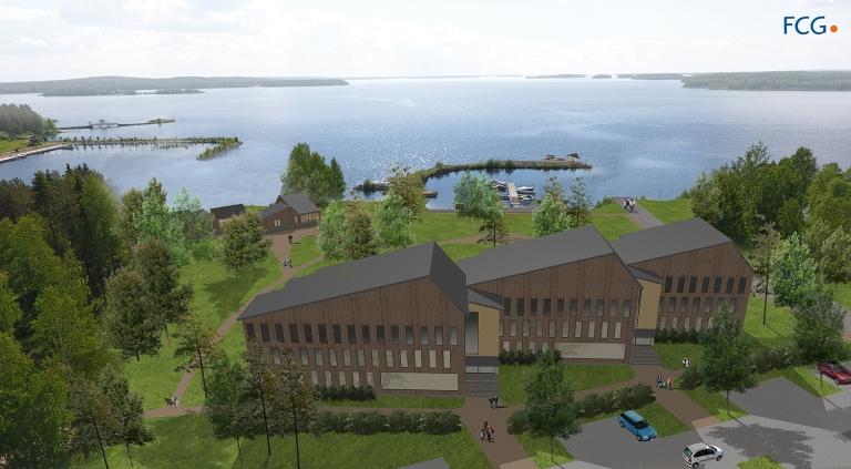 Kuvat esimerkkejä investointikohteen visualisoinnista. Janne Tolppanen FCG. Kaupunkisuunnittelu.com